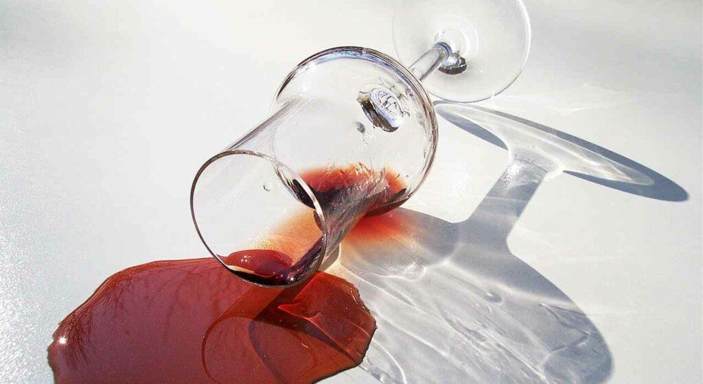 macchie vino