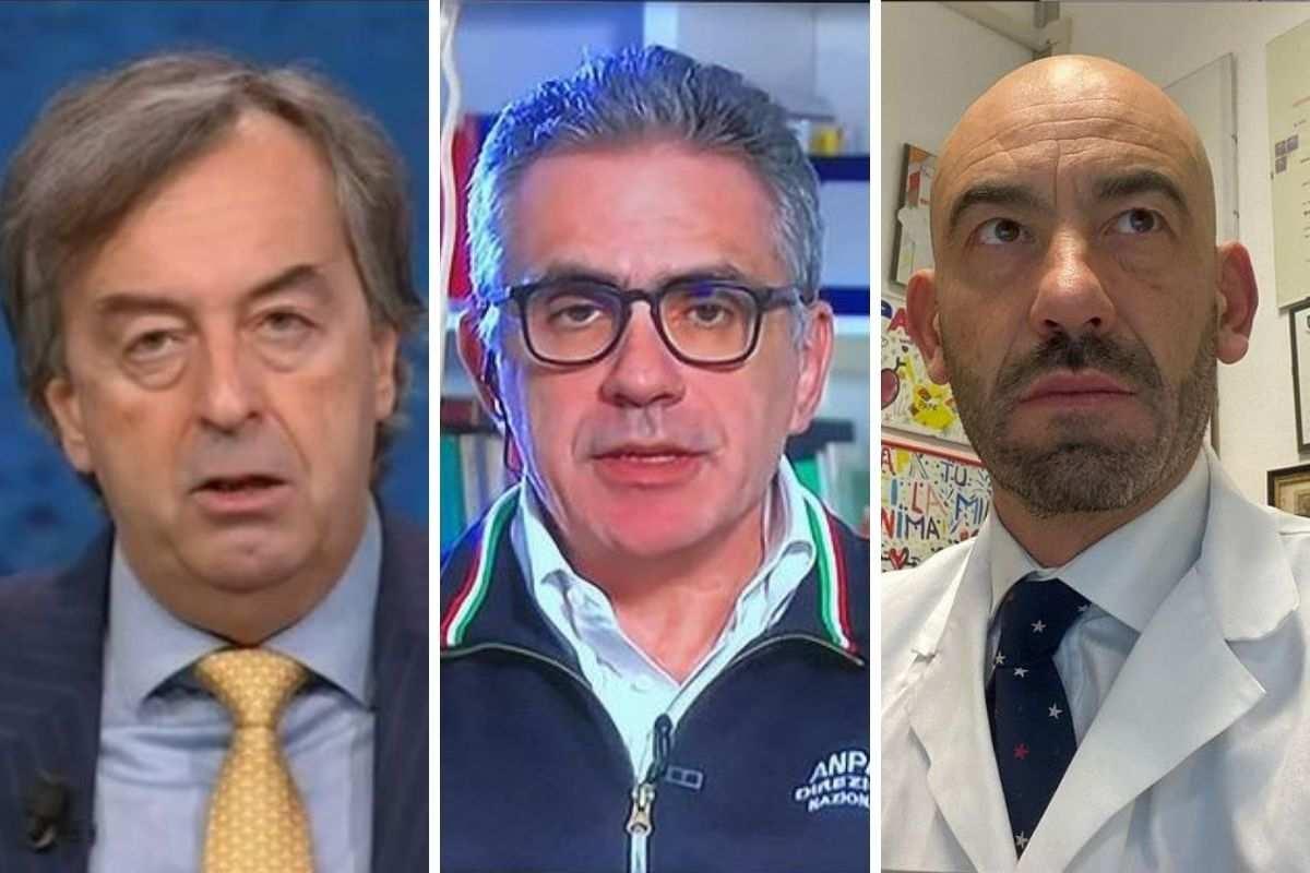 Burioni, Pregliasco e Bassetti