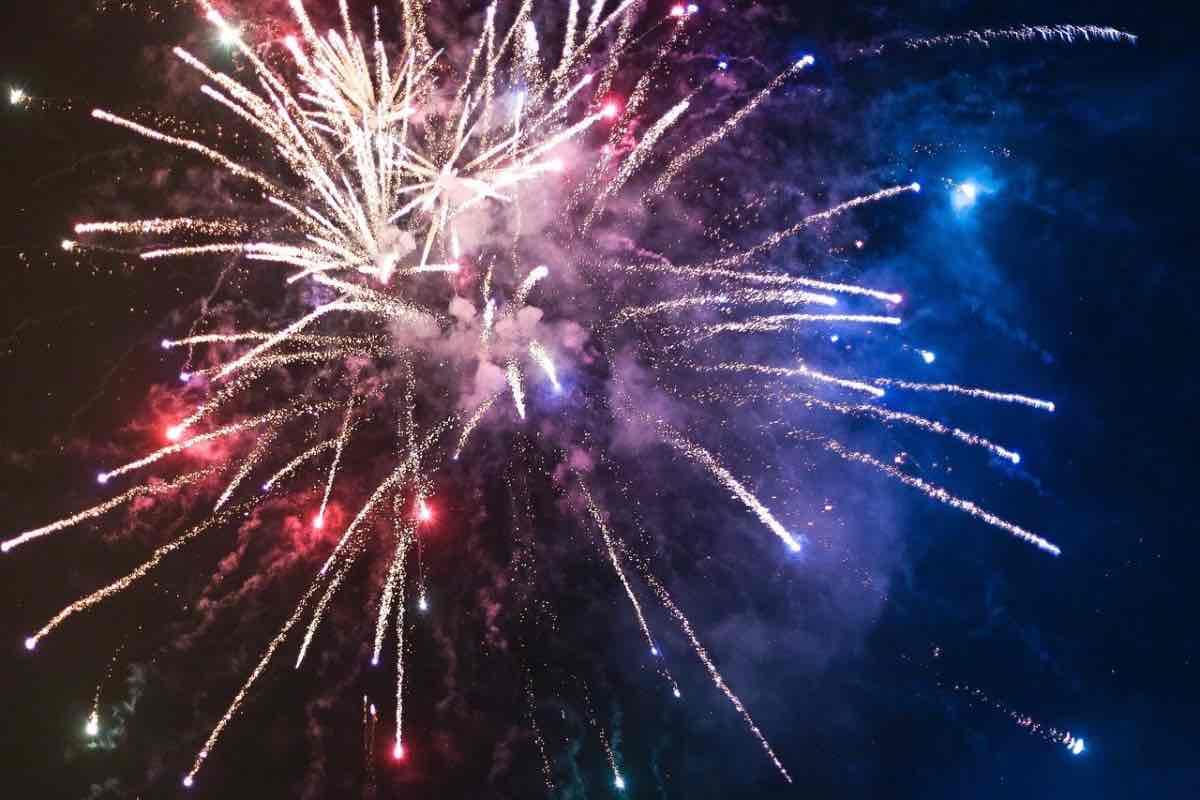Covid fuochi d'artificio