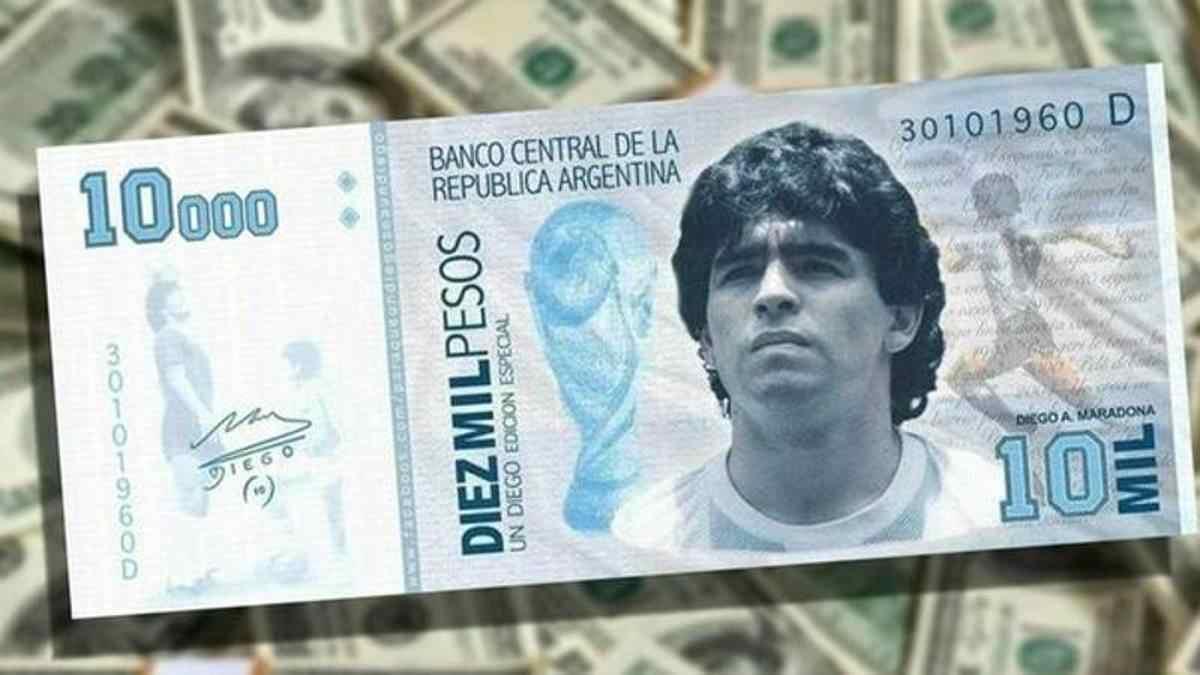 maradona pesos