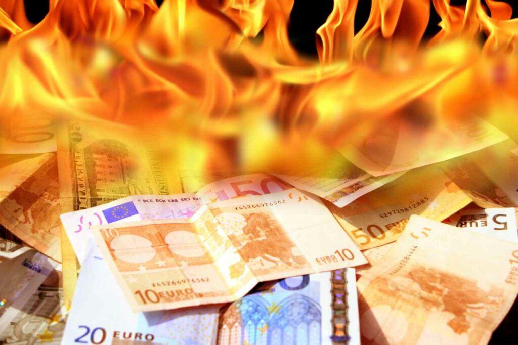 soldi bruciati