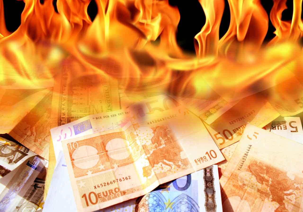 soldi bruciati mutuo