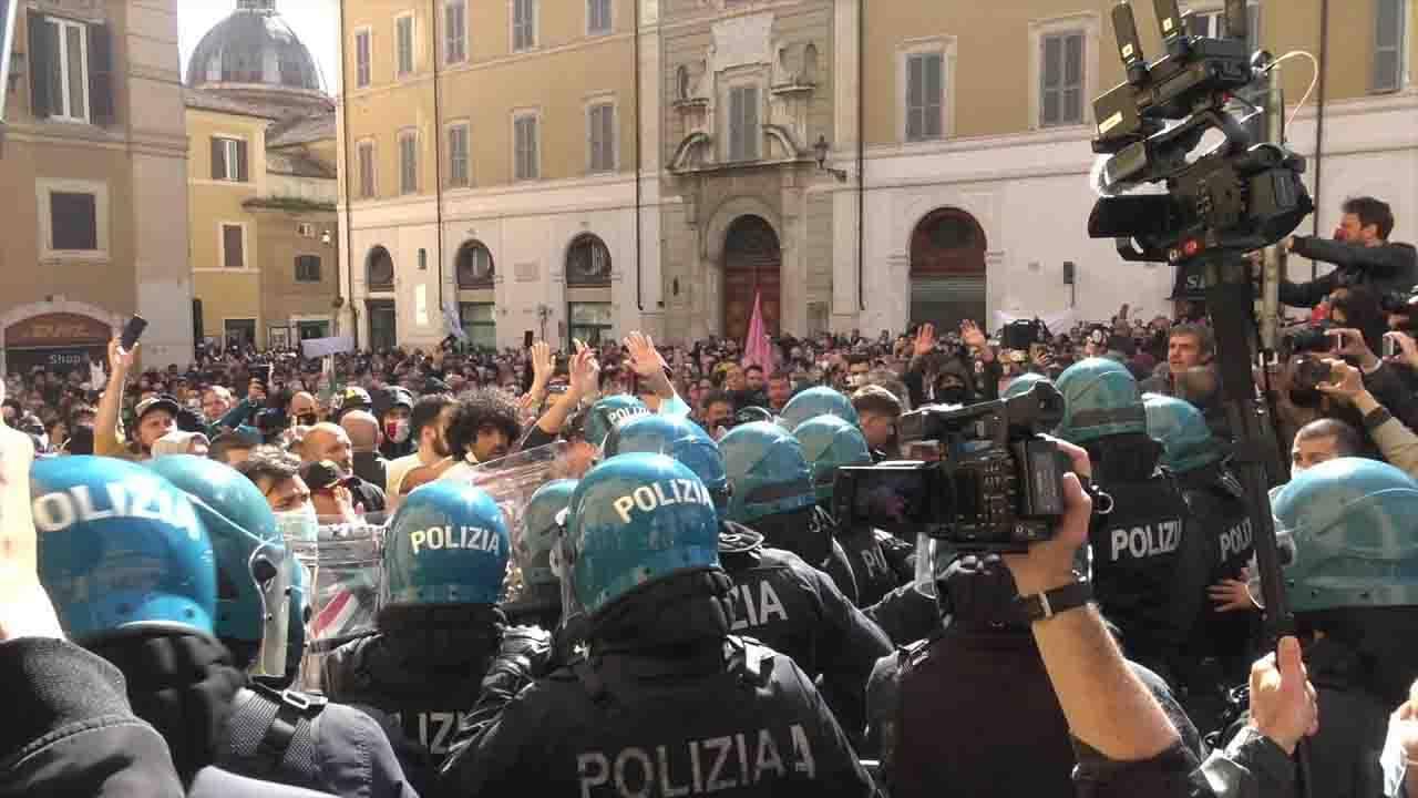 Protesta Montecitorio ristoratori