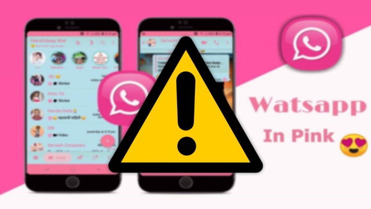 Vírus WhatsApp rosa