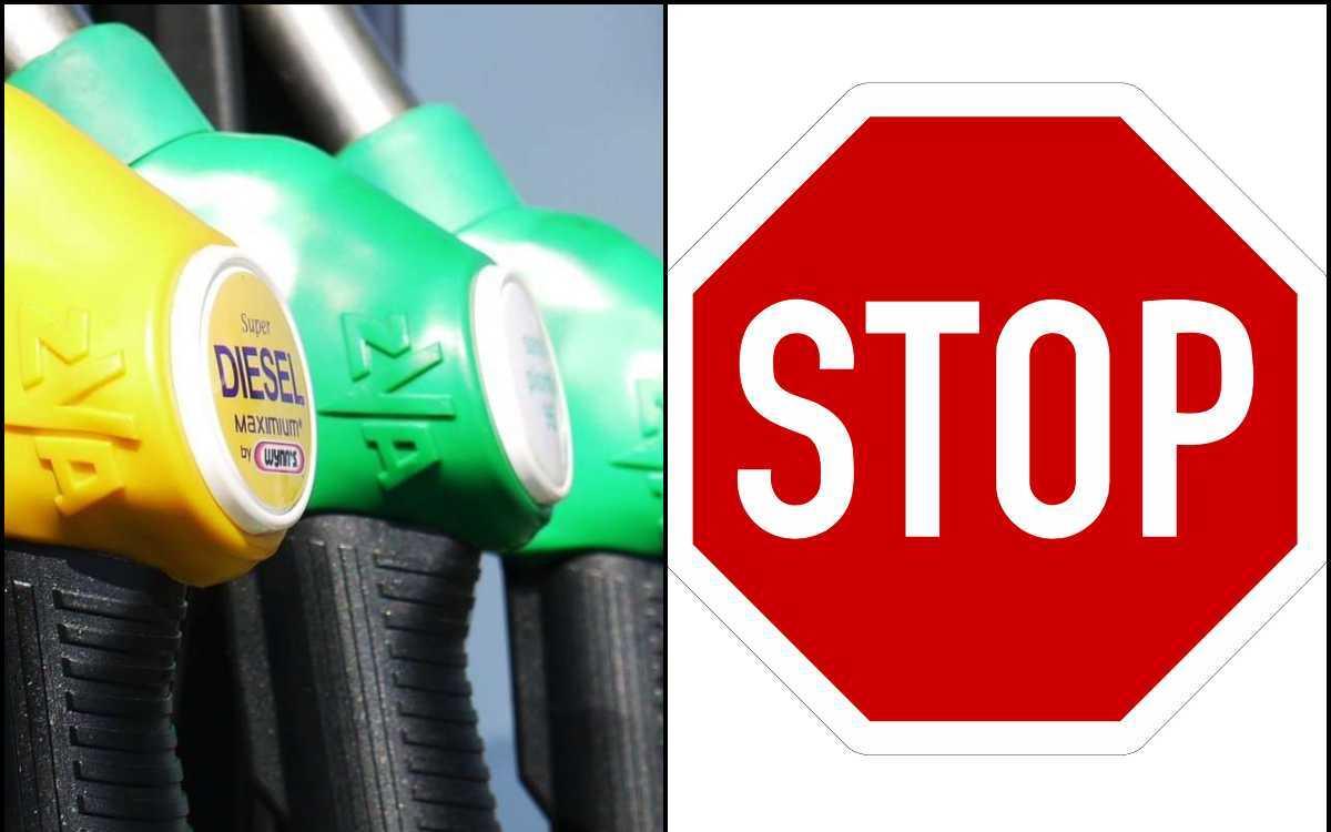 stop benzina